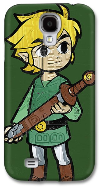 Link Legend Of Zelda Nintendo Retro Video Game Character Recycled Vintage License Plate Art Portrait Galaxy S4 Case