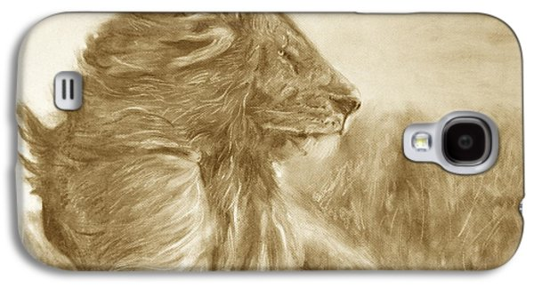 Lion Galaxy S4 Case by Adrienne Martino
