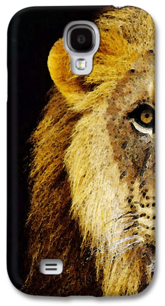 Lion Art - Face Off Galaxy S4 Case by Sharon Cummings