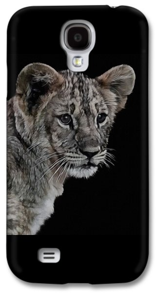 Lion Cub Portrait Galaxy S4 Case by Ernie Echols