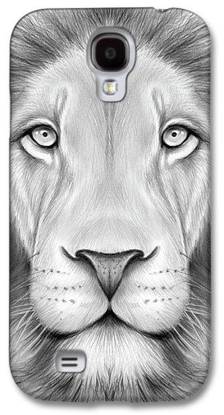 Lion Head Galaxy S4 Case by Greg Joens