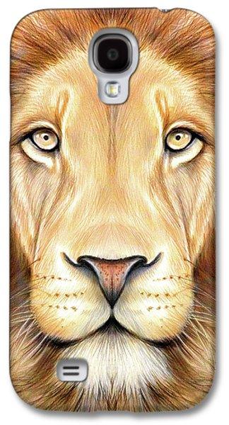 Lion Head In Color Galaxy S4 Case by Greg Joens
