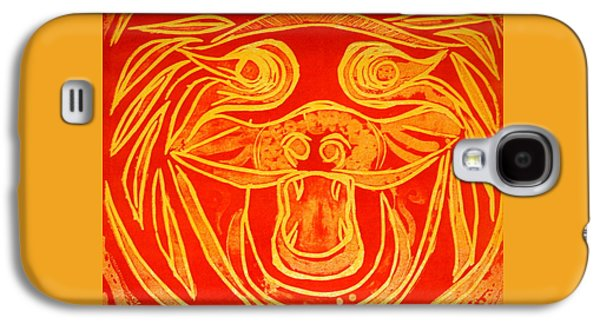 Lion Mask Galaxy S4 Case by Jane Gatward