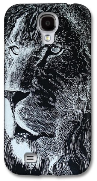 Lion Scratchboard Galaxy S4 Case by Alfred Stringer