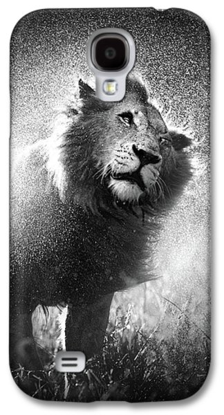 Cat Galaxy S4 Case - Lion Shaking Off Water by Johan Swanepoel