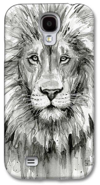 Lion Watercolor  Galaxy S4 Case by Olga Shvartsur