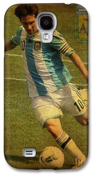 Lionel Messi Kicking Iv Galaxy S4 Case by Lee Dos Santos