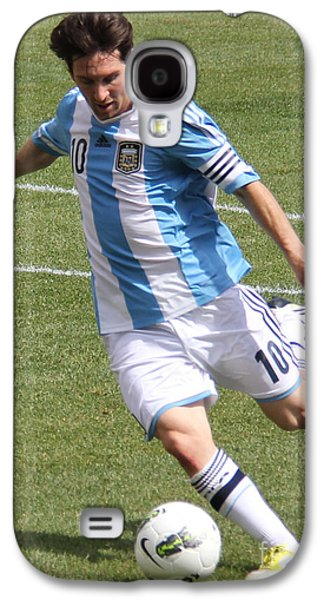 Lionel Messi Kicking Galaxy S4 Case by Lee Dos Santos