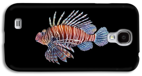 Lionfish In Black Galaxy S4 Case by Hailey E Herrera