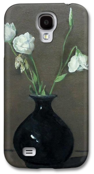 Lisianthus In Black Chinese Vase Galaxy S4 Case