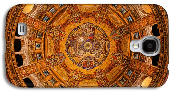 Lisieux St Therese Basilica Dome Ceiling Galaxy S4 Case by Olivier Le Queinec
