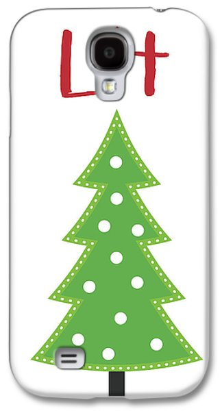 Lit Christmas Tree- Art By Linda Woods Galaxy S4 Case