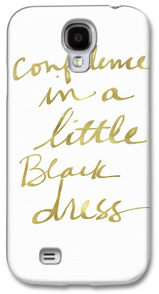 Little Black Dress Gold- Art By Linda Woods Galaxy S4 Case by Linda Woods