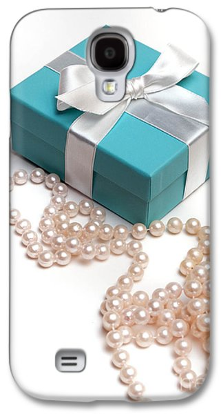 Little Blue Gift Box And Pearls Galaxy S4 Case by Amy Cicconi