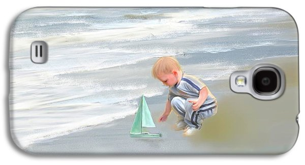 Little Boy And Boat Galaxy S4 Case by Mary Timman