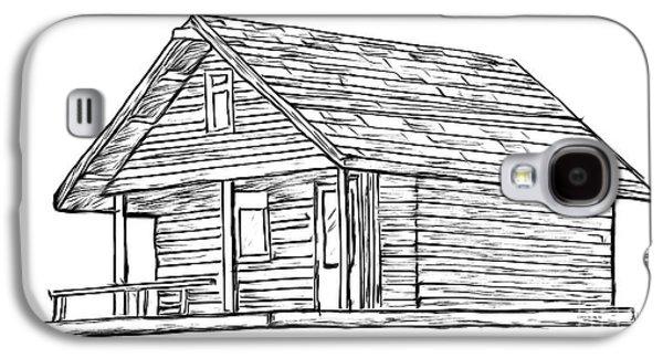 Little Cabin In The Woods Galaxy S4 Case by Edward Fielding