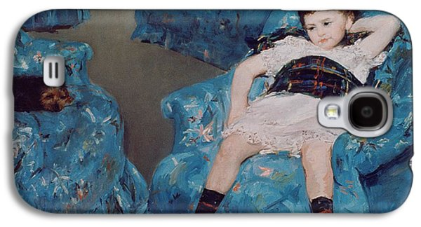 Little Girl In A Blue Armchair Galaxy S4 Case