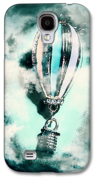 Little Hot Air Balloon Pendant And Clouds Galaxy S4 Case by Jorgo Photography - Wall Art Gallery