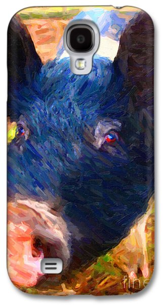 Charlotte Digital Art Galaxy S4 Cases - Little Miss Piggy Galaxy S4 Case by Wingsdomain Art and Photography