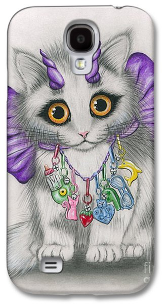 Little Purple Horns - 1980s Cute Devil Kitten Galaxy S4 Case