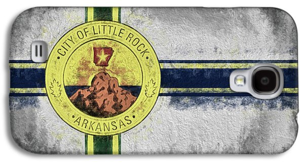Galaxy S4 Case featuring the digital art Little Rock City Flag by JC Findley