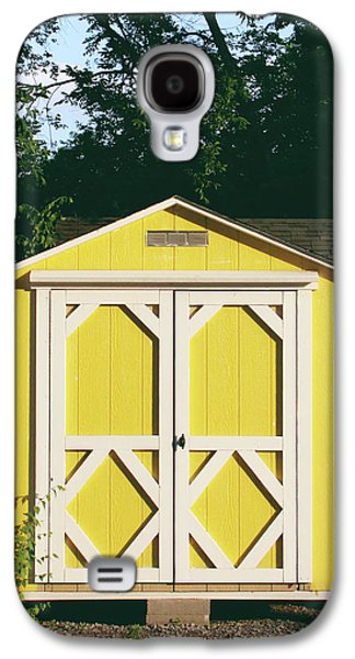 Little Yellow Barn- By Linda Woods Galaxy S4 Case by Linda Woods