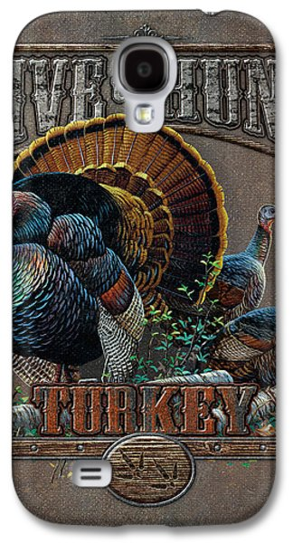 Live To Hunt Turkey Galaxy S4 Case by JQ Licensing
