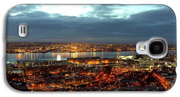 Liverpool City And River Mersey Galaxy S4 Case by Steve Kearns