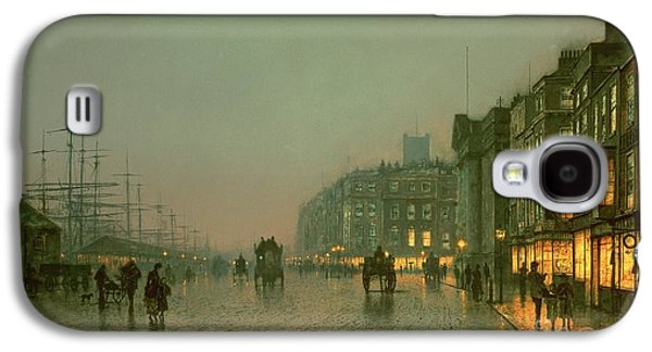 Liverpool Docks From Wapping Galaxy S4 Case by John Atkinson Grimshaw