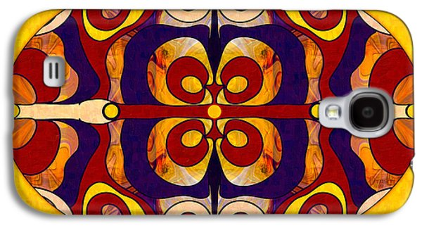Living In A Mandala Abstract Bliss Art By Omashte Galaxy S4 Case by Omaste Witkowski