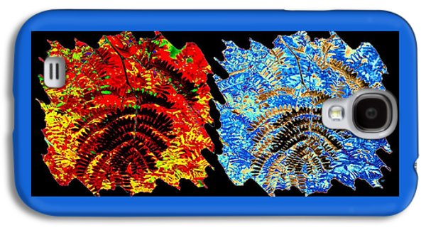 Locust Leaves Abstract Fusion Galaxy S4 Case