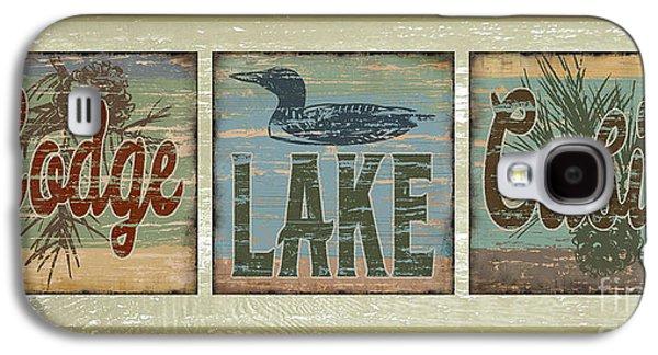 Lodge Lake Cabin Sign Galaxy S4 Case