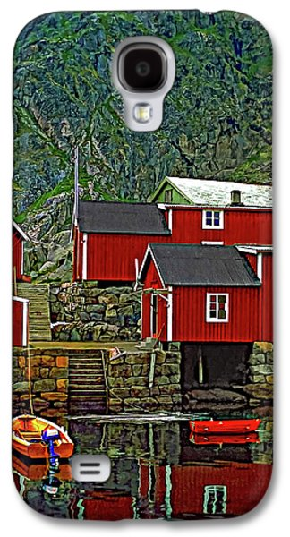 Lofoten Fishing Huts Galaxy S4 Case by Steve Harrington