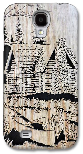 Log Cabin By Lake Galaxy S4 Case