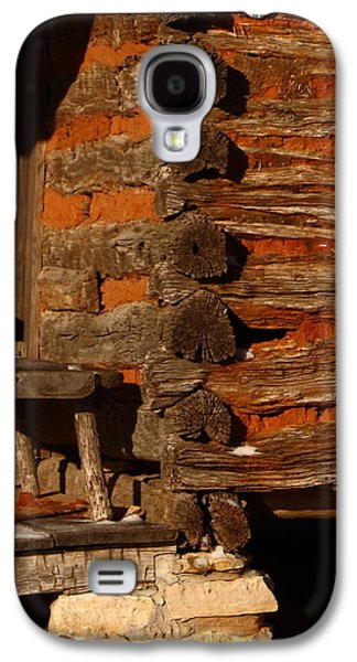 Pioneer Scene Galaxy S4 Cases - Log Cabin Galaxy S4 Case by Robert Frederick