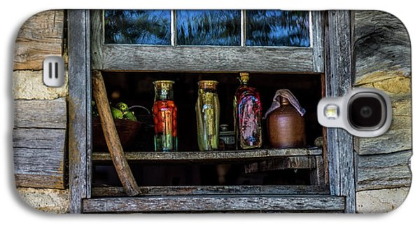Log Cabin Window Galaxy S4 Case by Paul Freidlund