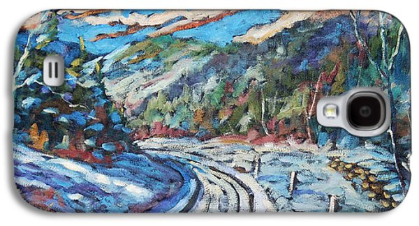 Canadiens Paintings Galaxy S4 Cases - Loggers Road  Galaxy S4 Case by Richard T Pranke