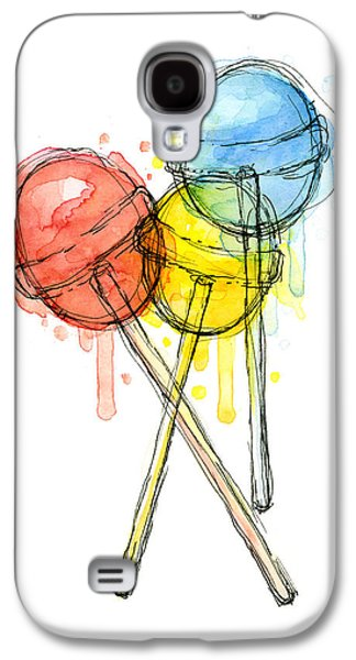Lollipop Candy Watercolor Galaxy S4 Case by Olga Shvartsur
