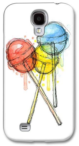 Lollipop Candy Watercolor Galaxy S4 Case by Olga Shvartsur
