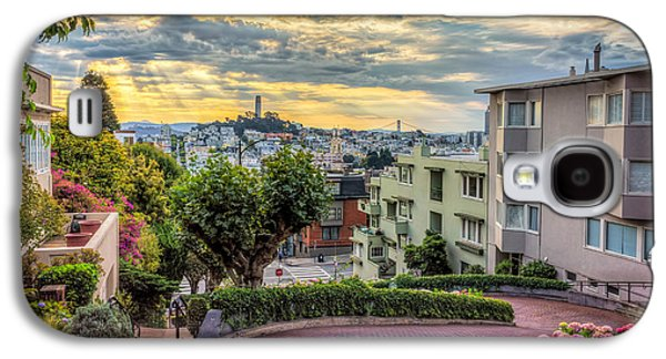 Lombard Street In San Francisco Galaxy S4 Case by James Udall