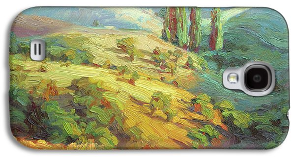 Impressionism Galaxy S4 Case - Lombardy Homestead by Steve Henderson