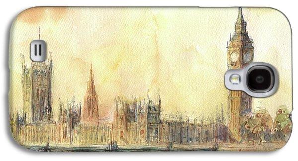 London Big Ben And Thames River Galaxy S4 Case by Juan Bosco