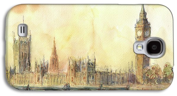 London Big Ben And Thames River Galaxy S4 Case by Juan Bosco