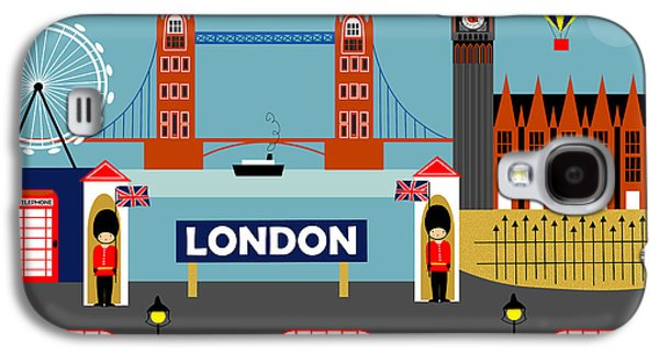 London England Horizontal Scene - Collage Galaxy S4 Case