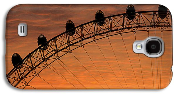 London Eye Sunset Galaxy S4 Case by Martin Newman