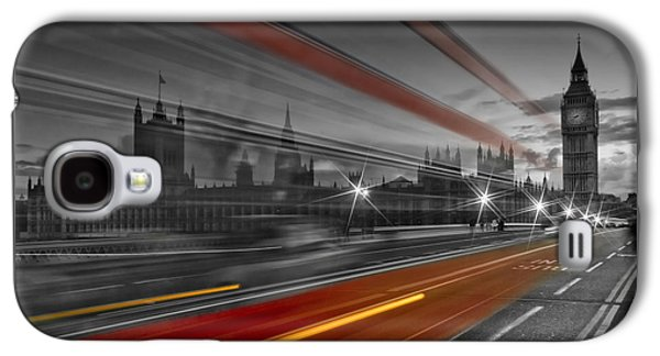 London Red Bus Galaxy S4 Case by Melanie Viola