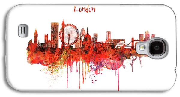 London Skyline Watercolor Galaxy S4 Case by Marian Voicu