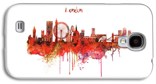 London Skyline Watercolor Galaxy S4 Case