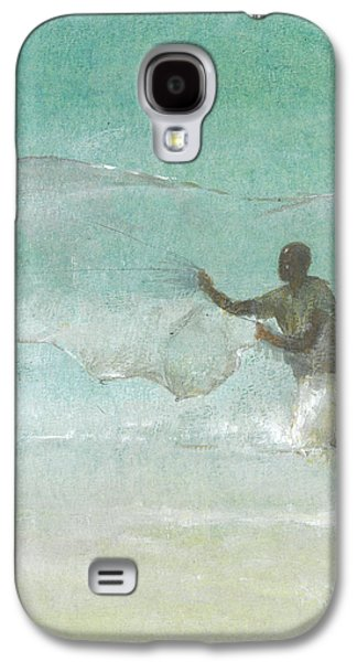 Lone Fisherman Five Galaxy S4 Case by Lincoln Seligman
