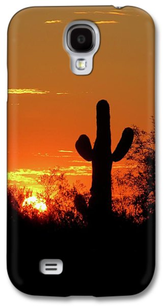 Lone Saguaro Sunrise Galaxy S4 Case